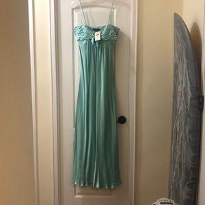 NWT - BCBG floor length hammered satin dress